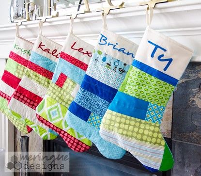 Picture of Patchwork Christmas Stockings Pattern